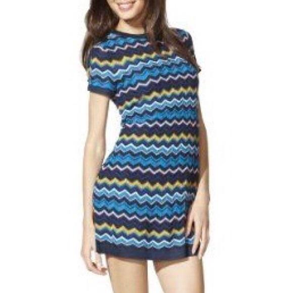 Missoni for Target Dresses & Skirts - Missoni for Target Blue Zigzag Sweater Dress